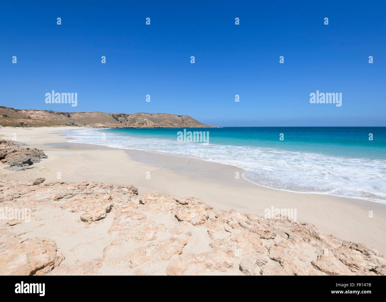 Red Bluff, Point Quobba, near Carnarvon, Coral Coast, Gascoyne Region, Western Australia, WA, Australia - Stock Image