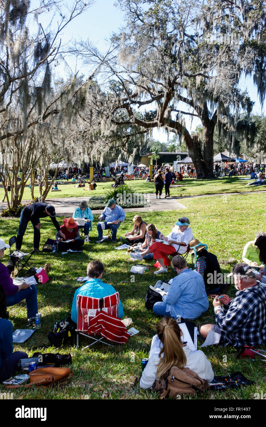 Florida FL Orlando North Orange District Loch Haven Park The Mennello Museum of American Art Indie-Folkfest festival Stock Photo