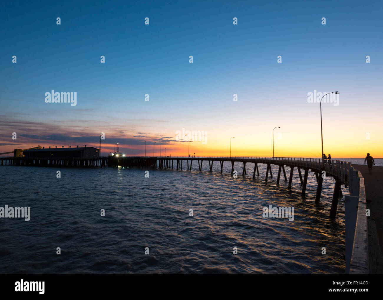 Derby Jetty at Sunset, Western Australia - Stock Image