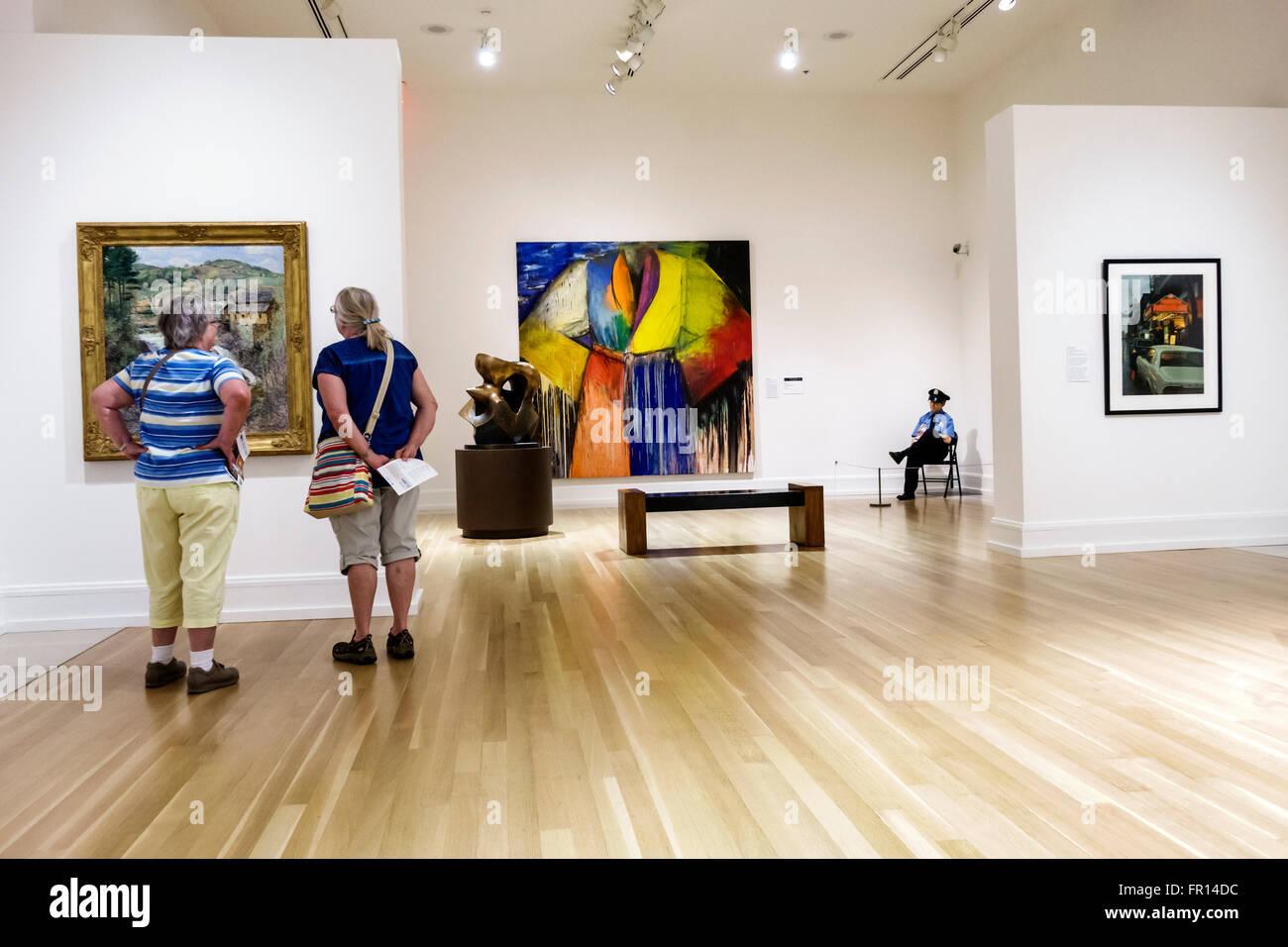 Florida FL Vero Beach Vero Beach Museum of Art gallery inside Stock