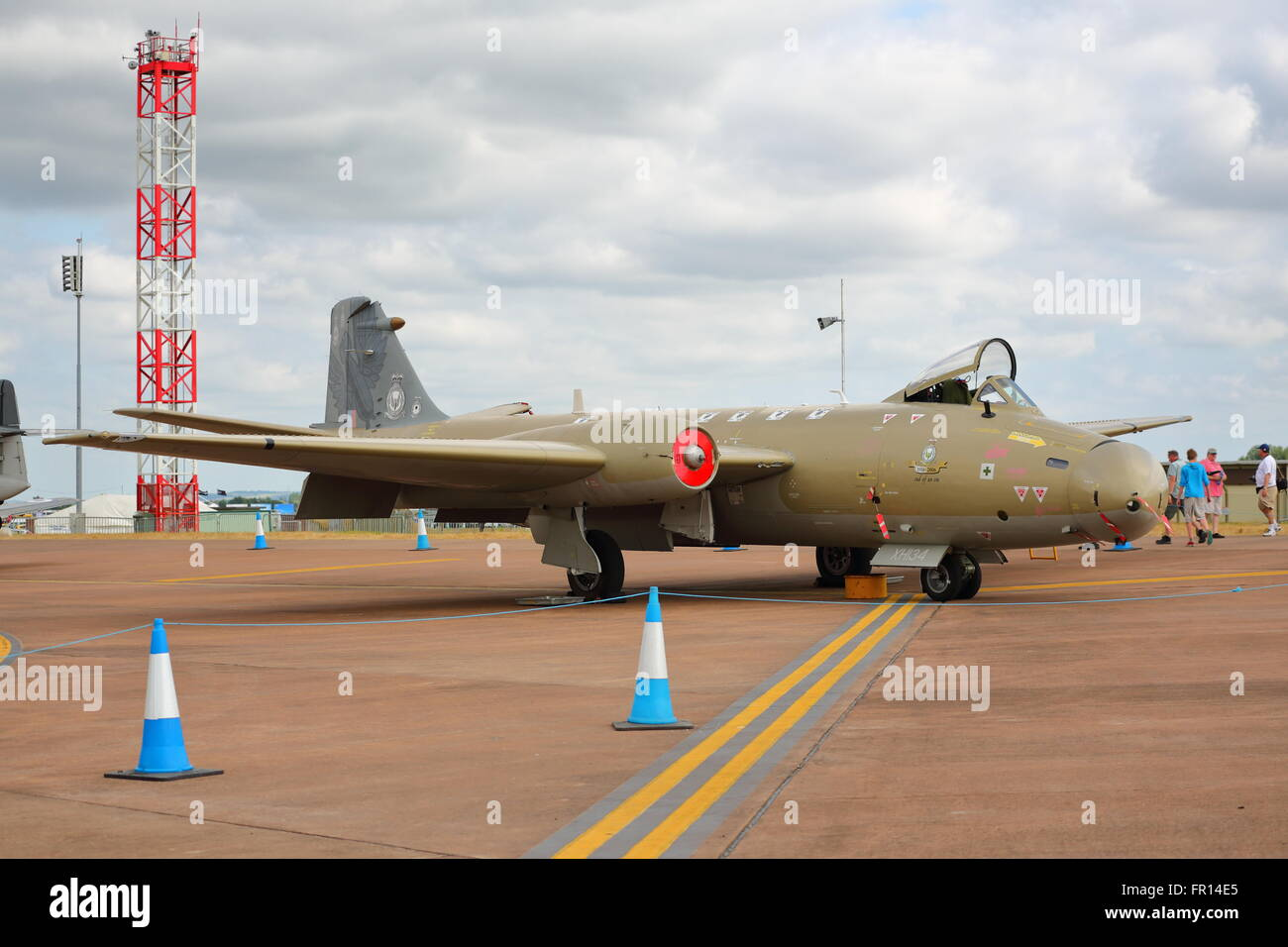 English Electric Canberra PR.9 XH134 at the RIAT Air Show at RAF Fairford, UK - Stock Image