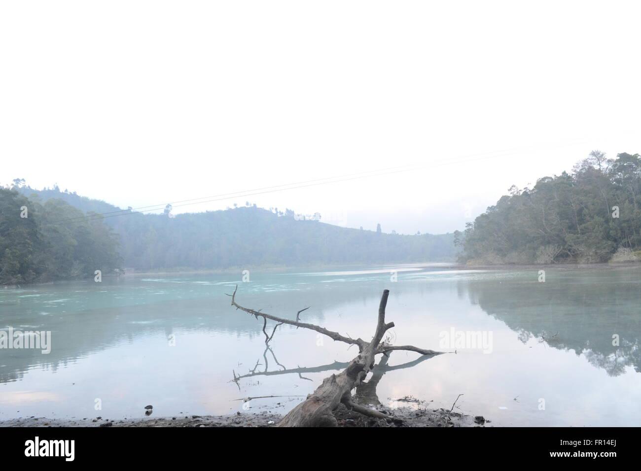 Telaga Warna Lake, Dieng, Central Java, Indonesia - Stock Image