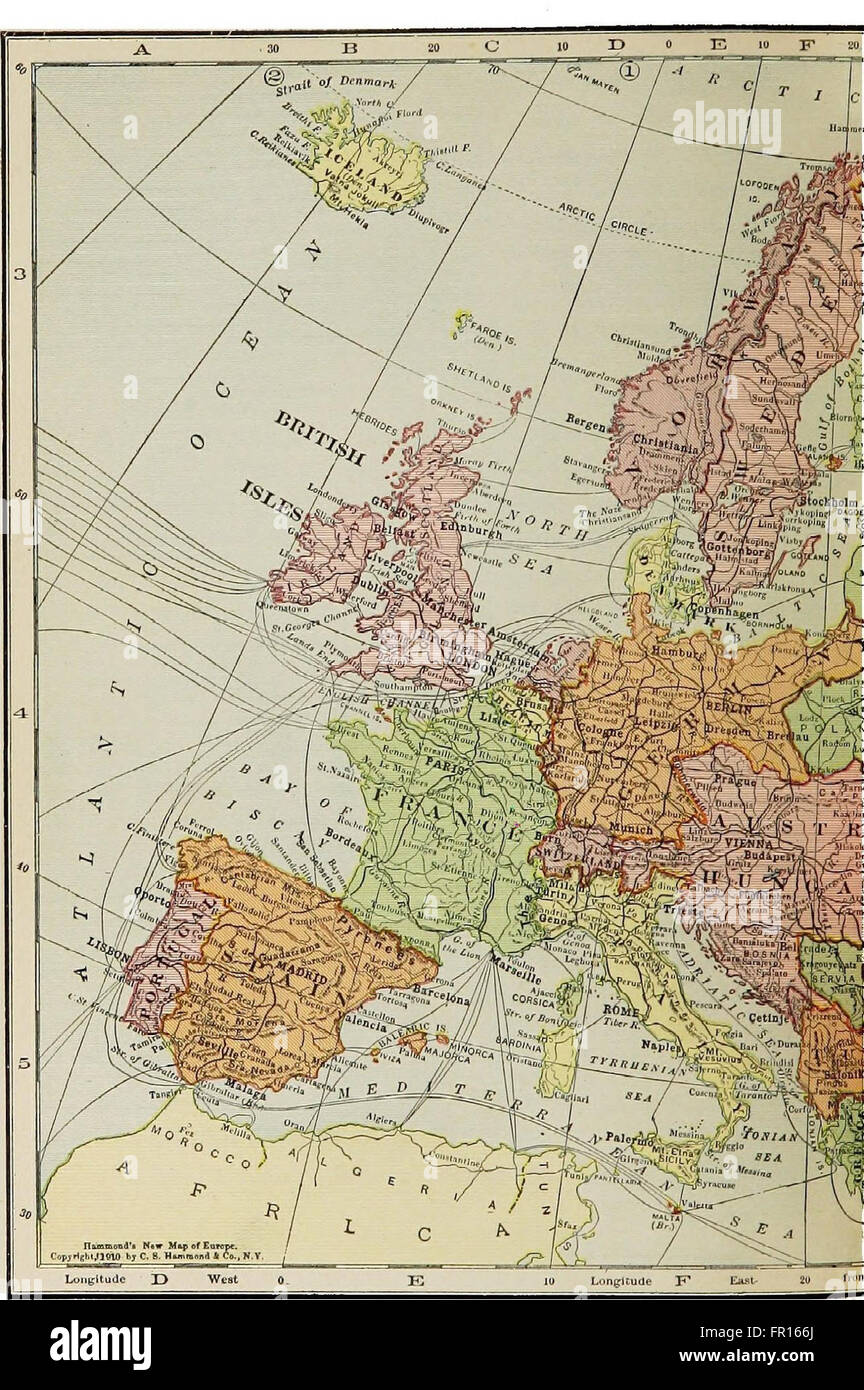 The New Map Of Europe 1911 1914 The Story Of The Recent European