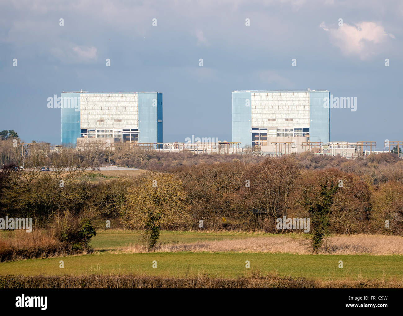 Somerset, UK - February 28, 2016: Hinkley Point Nuclear Power Station Somerset, UK. EDITORIAL USE ONLY Stock Photo