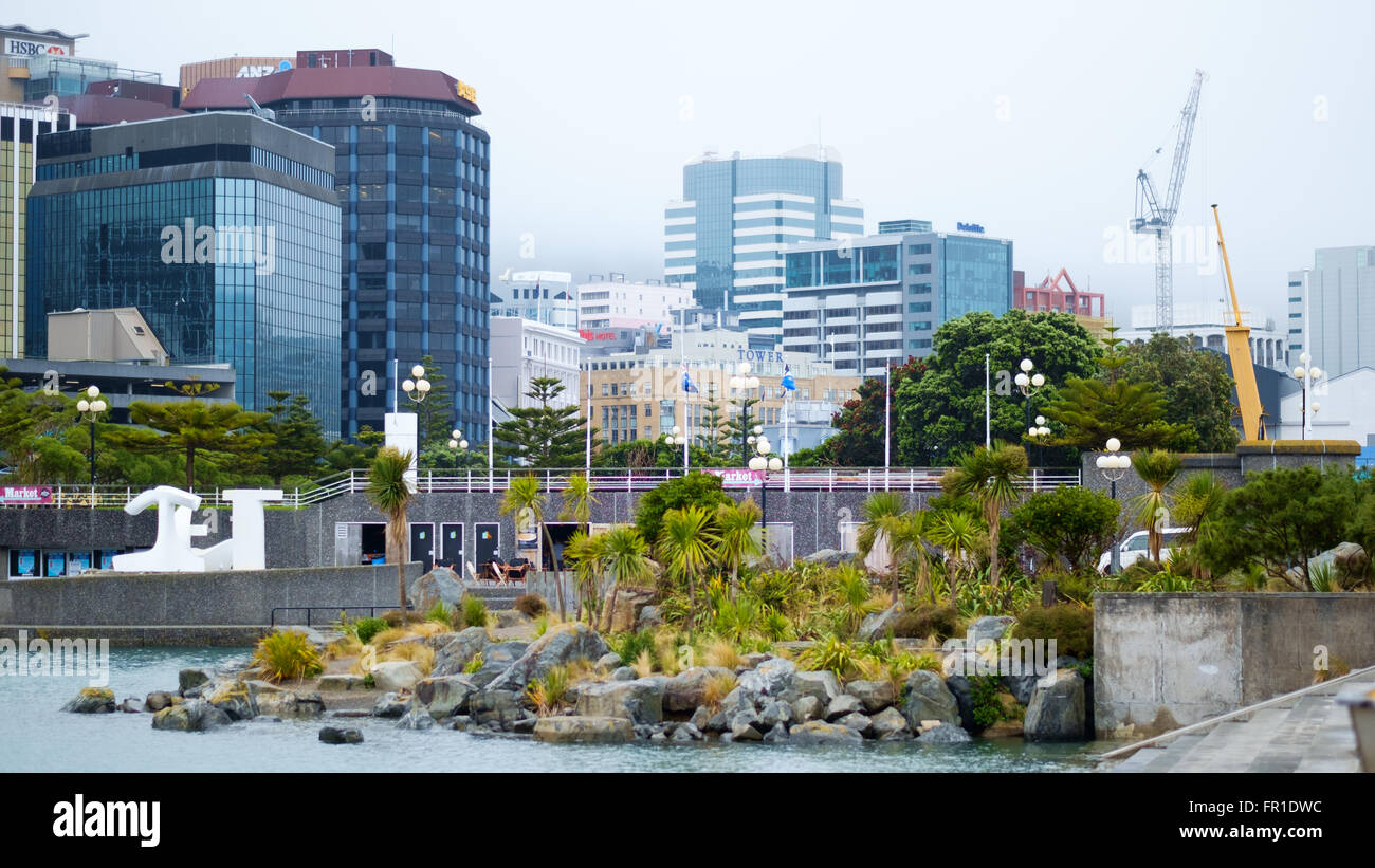 Office blocks, Wellington, New Zealand Stock Photo