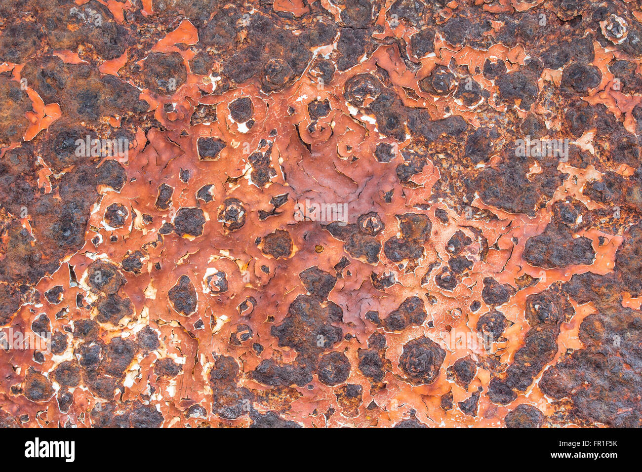 Rust on metal surfaces - Stock Image