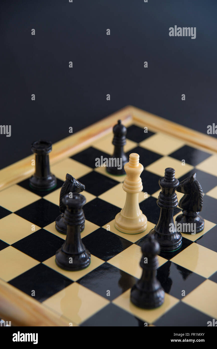 Chess pieces on a chess board. Chess game. - Stock Image