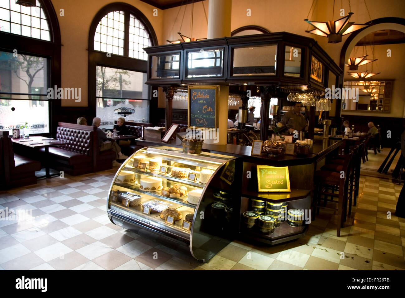 The Vintage Coffee Shop At The 1886 Driskill Hotel In Austin Texas Stock Photo 100237743 Alamy