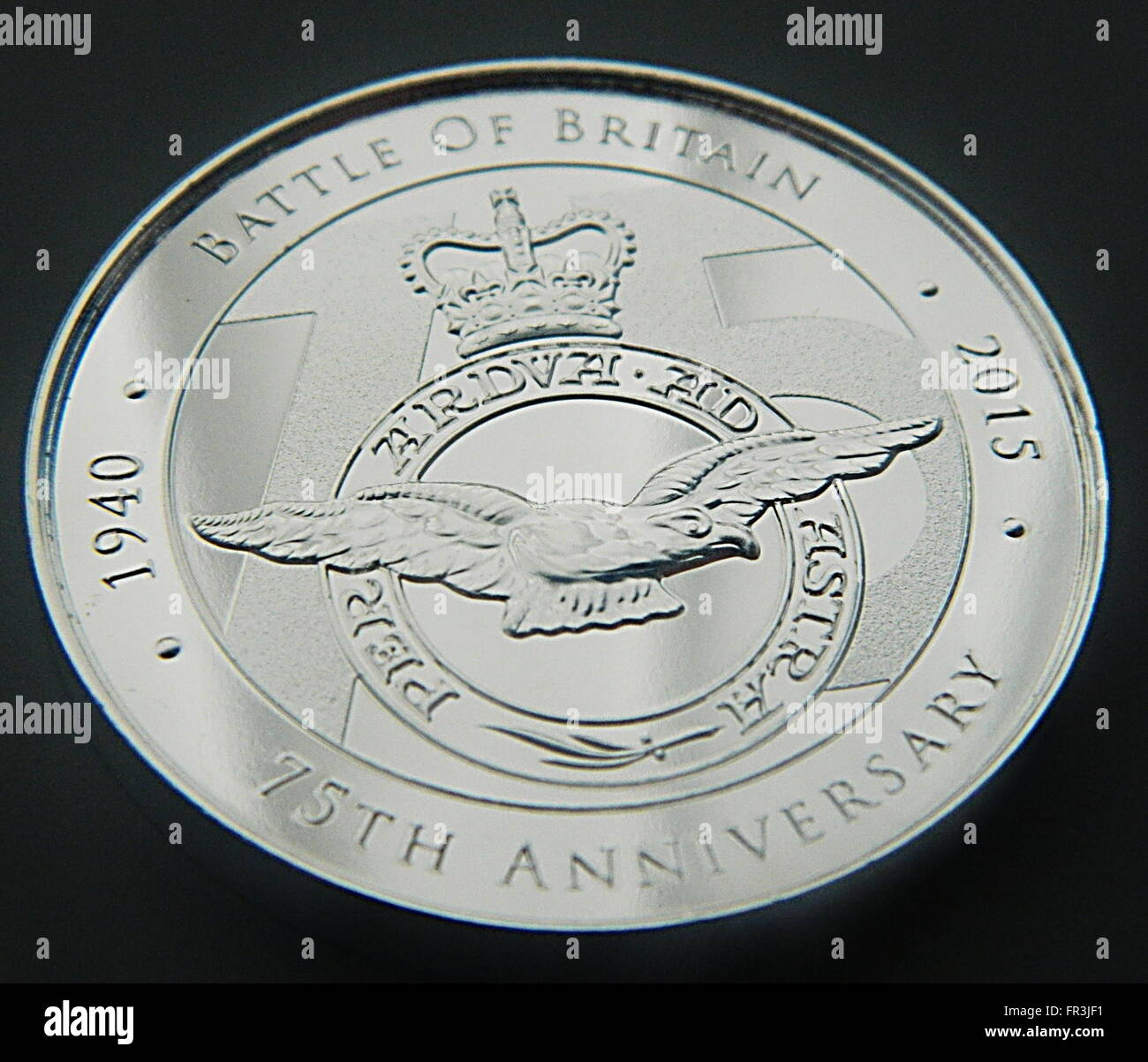 Battle Of Britain 75th Anniversary Commemorative Coin Stock Photo
