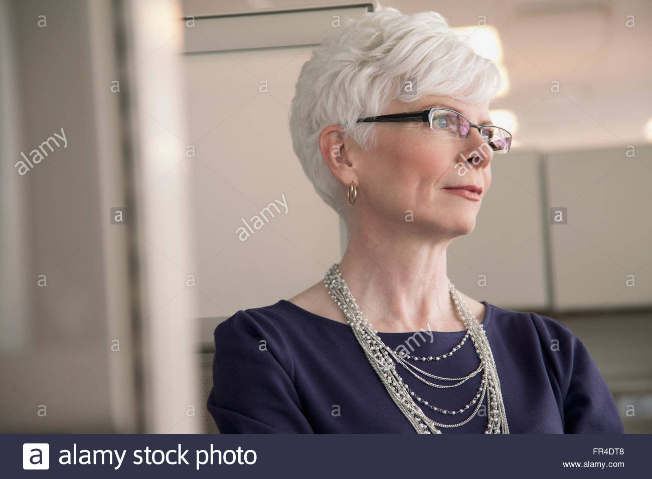 portrait of senior business woman - Stock Image
