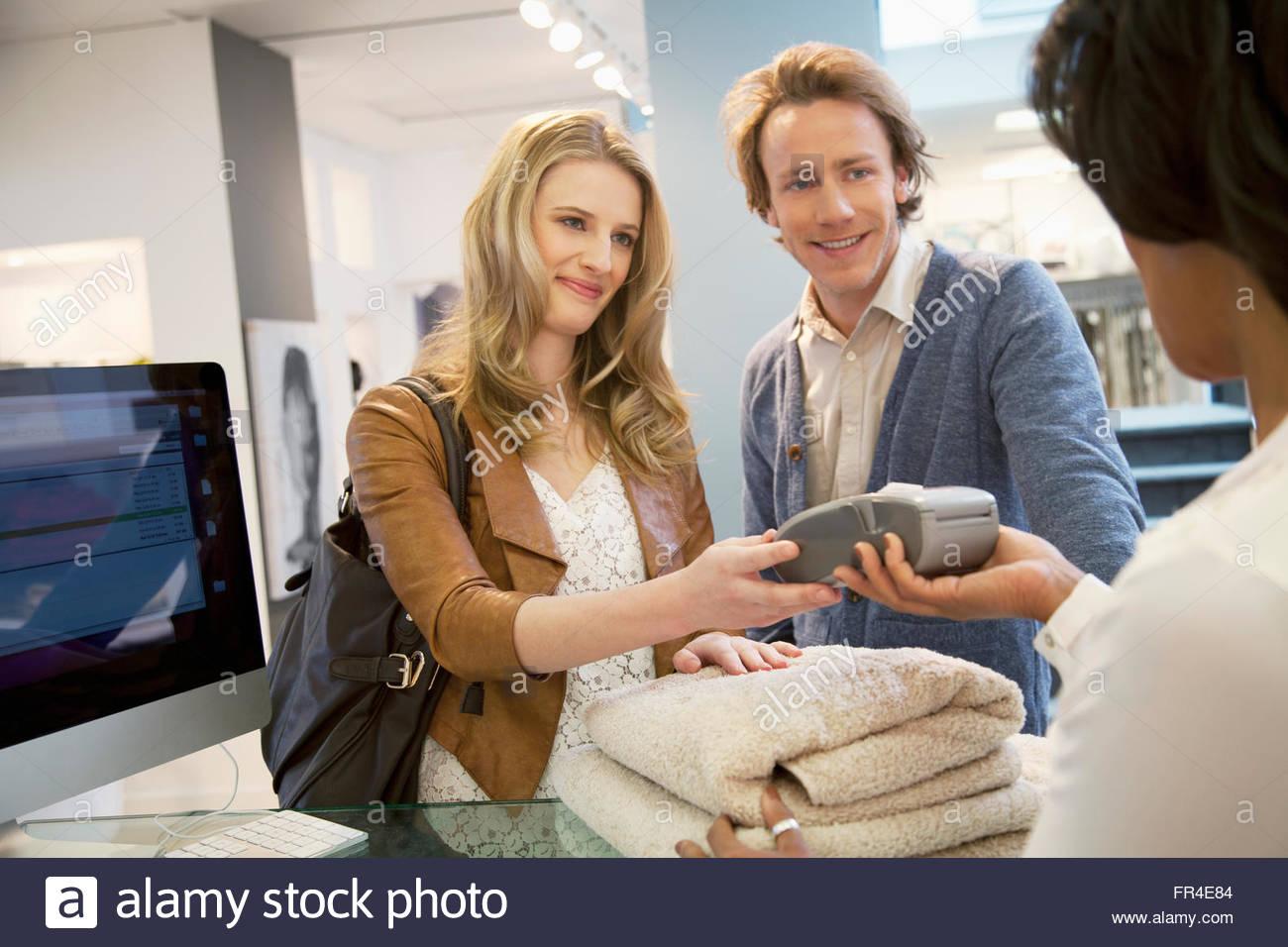 shopping for household goods - Stock Image