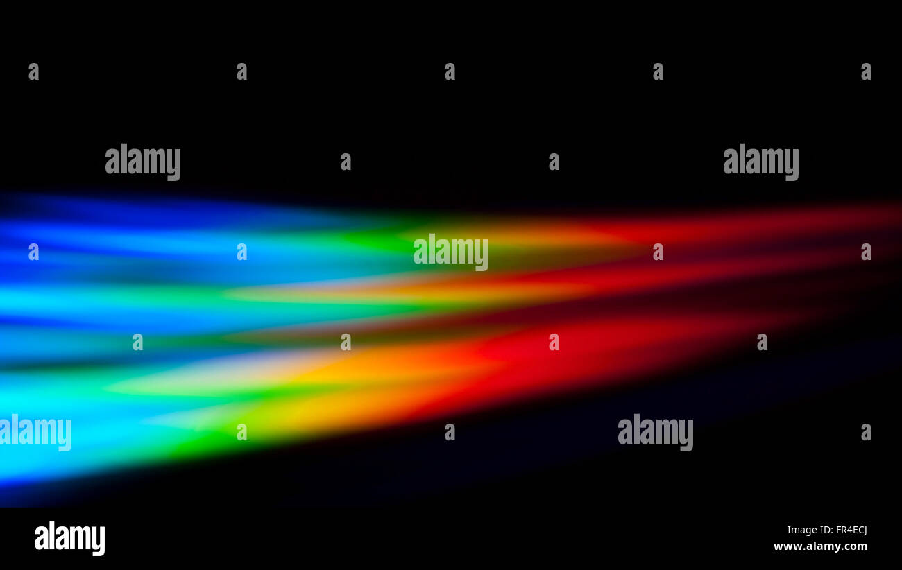 Light spectrum reflected off of a dvd - Stock Image