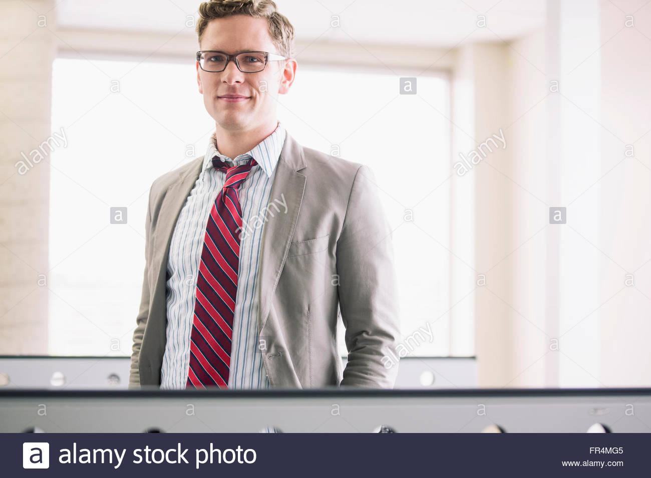 portrait of handsome mid-adult businessman - Stock Image