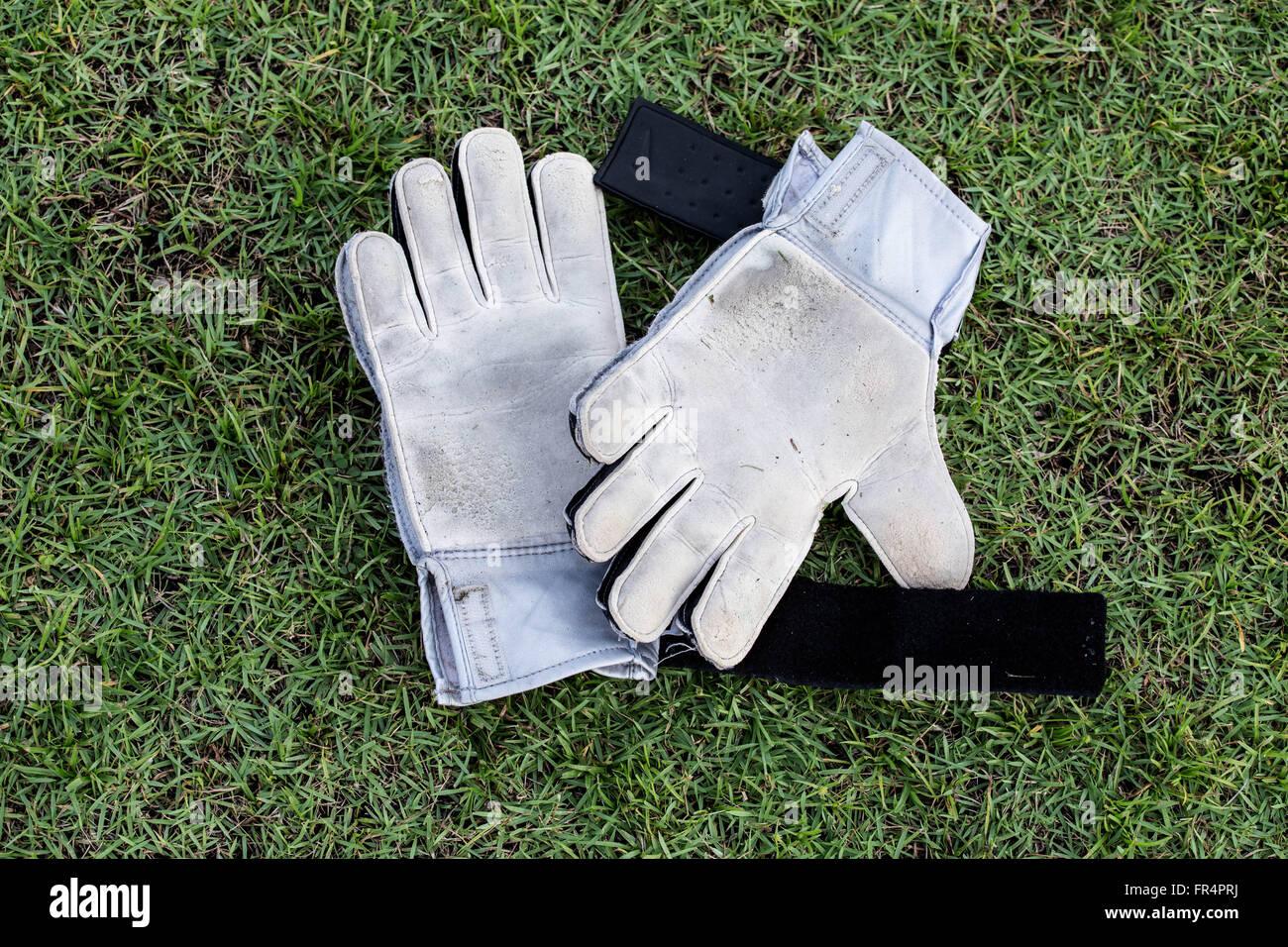 Goalkeeper Gloves - Stock Image