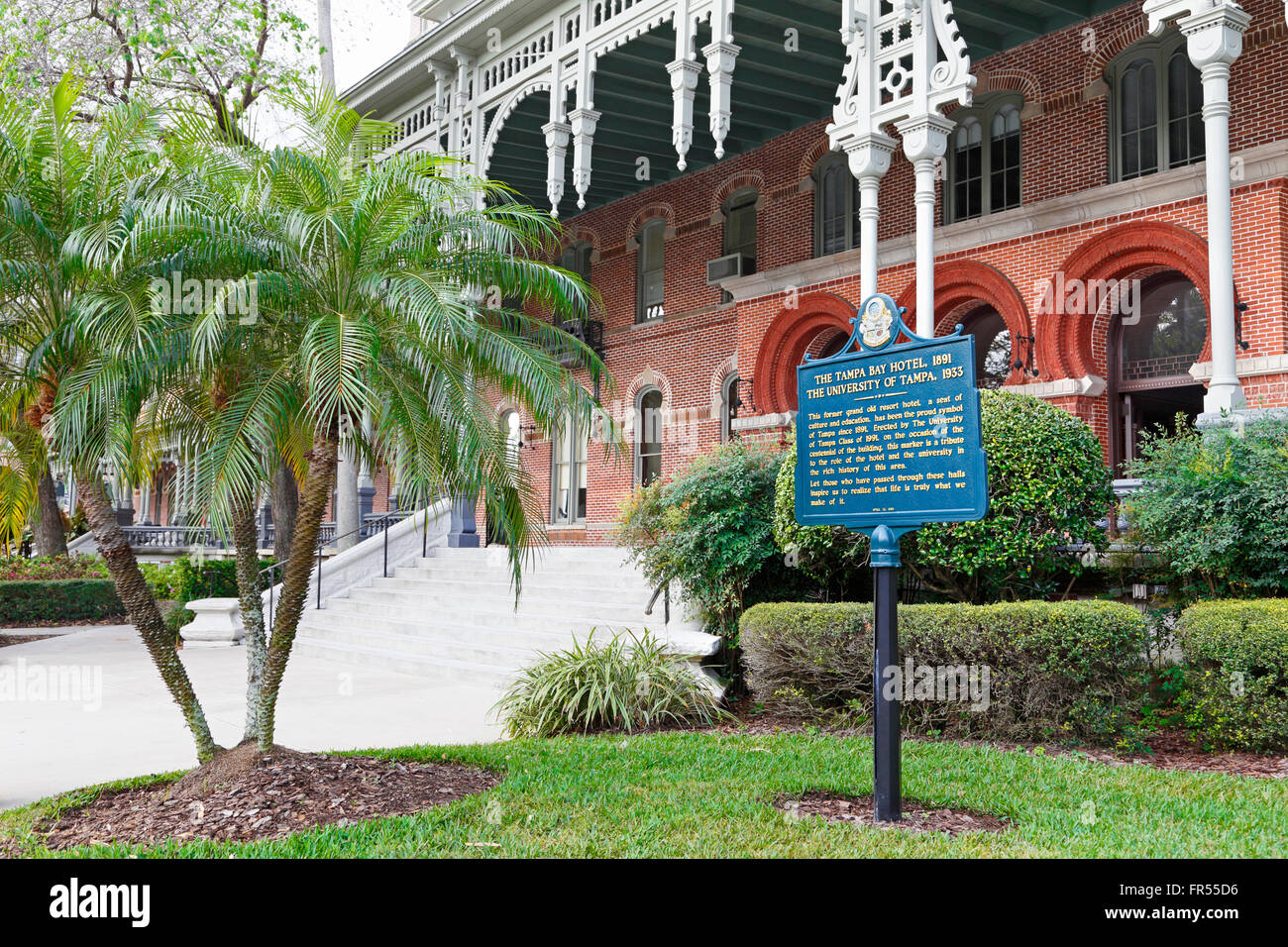 University of Tampa in the old resort Tampa Bay Hotel that was created by Henry B. Plant. - Stock Image