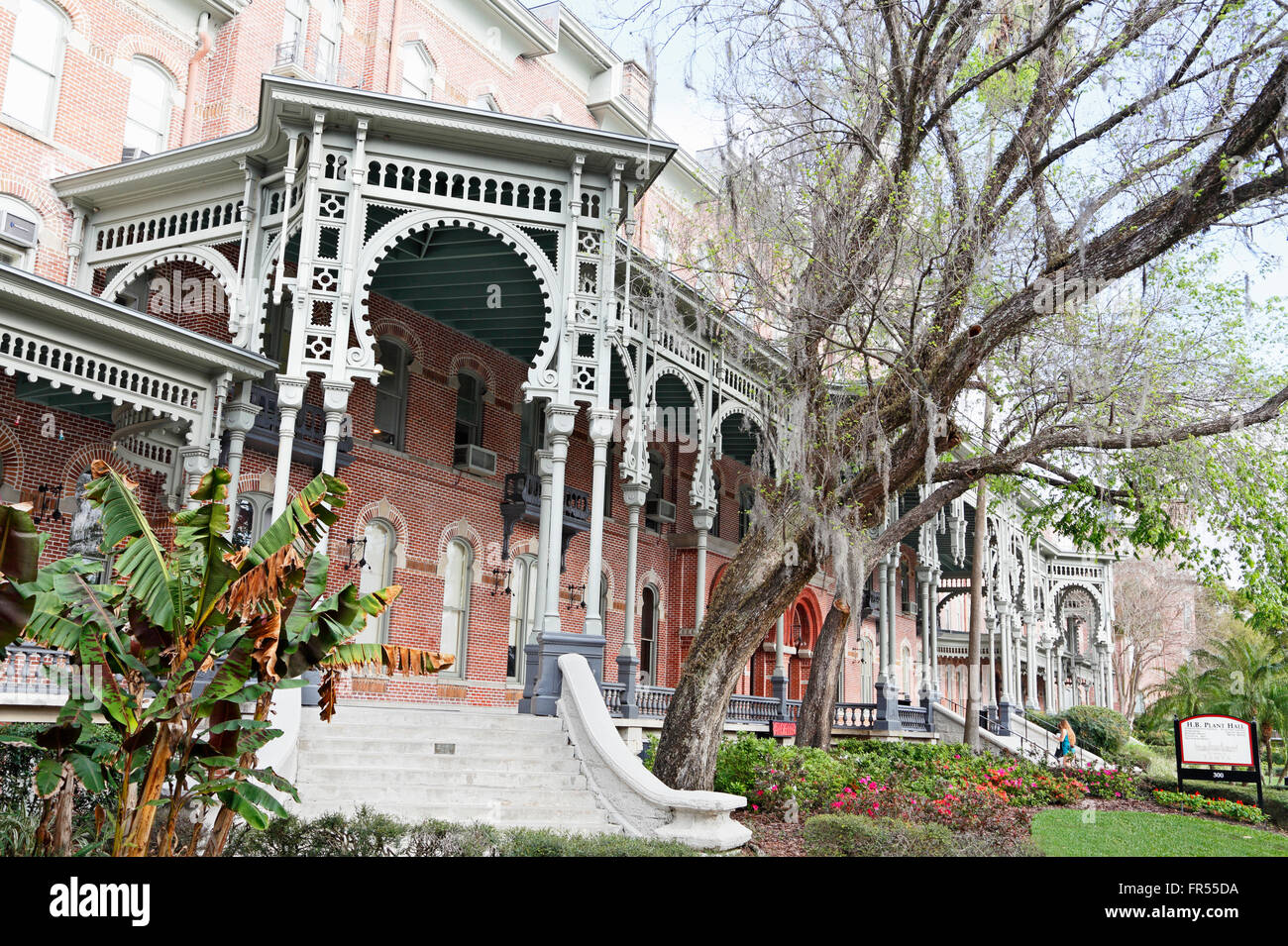University of Tampa, Florida,in the resort old Tampa Bay Hotel. Henry B. Plant Hall. - Stock Image