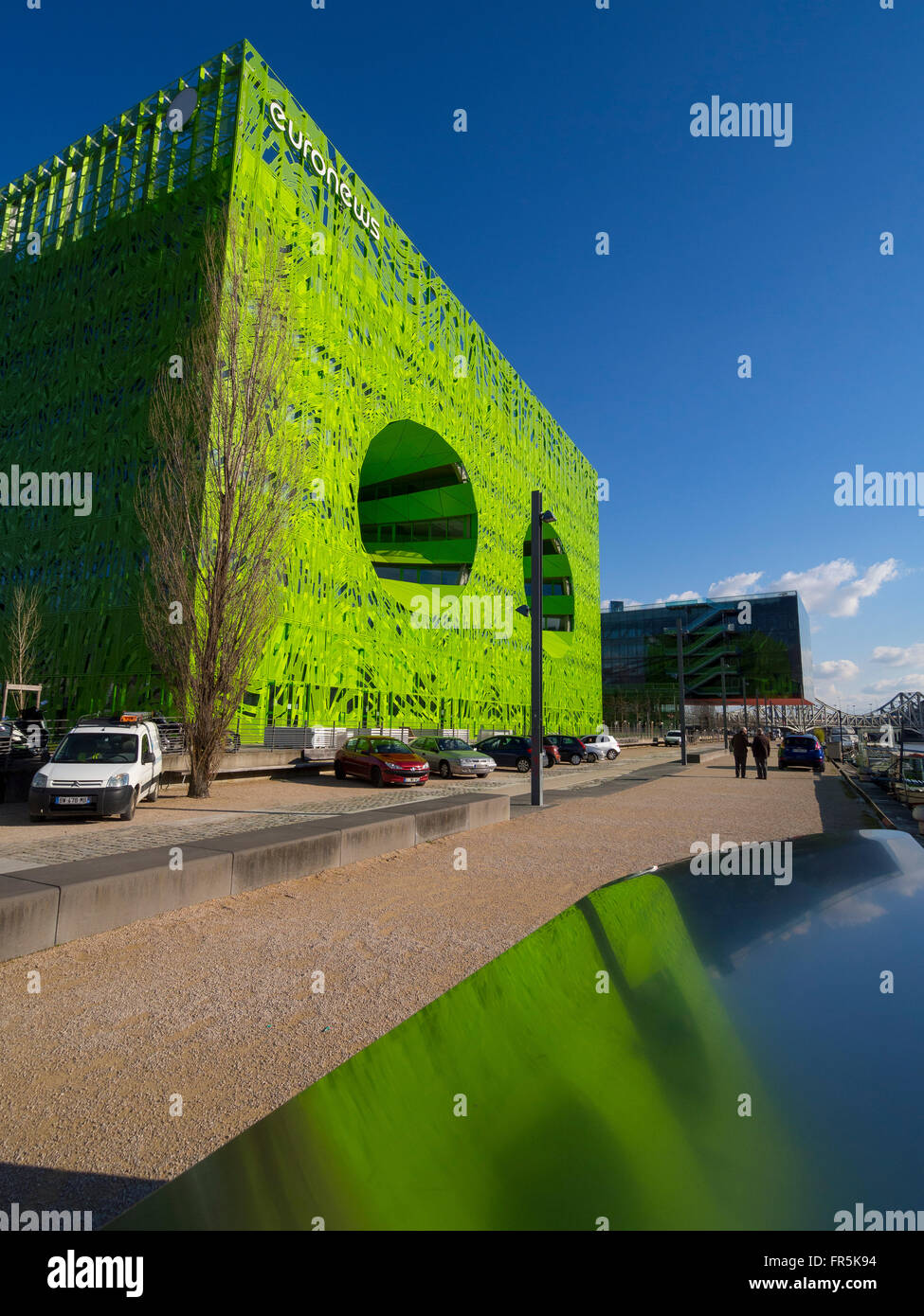 The green cube (Jakob + Macfarlane Architects). District of the Confluence, Lyon, France - Stock Image