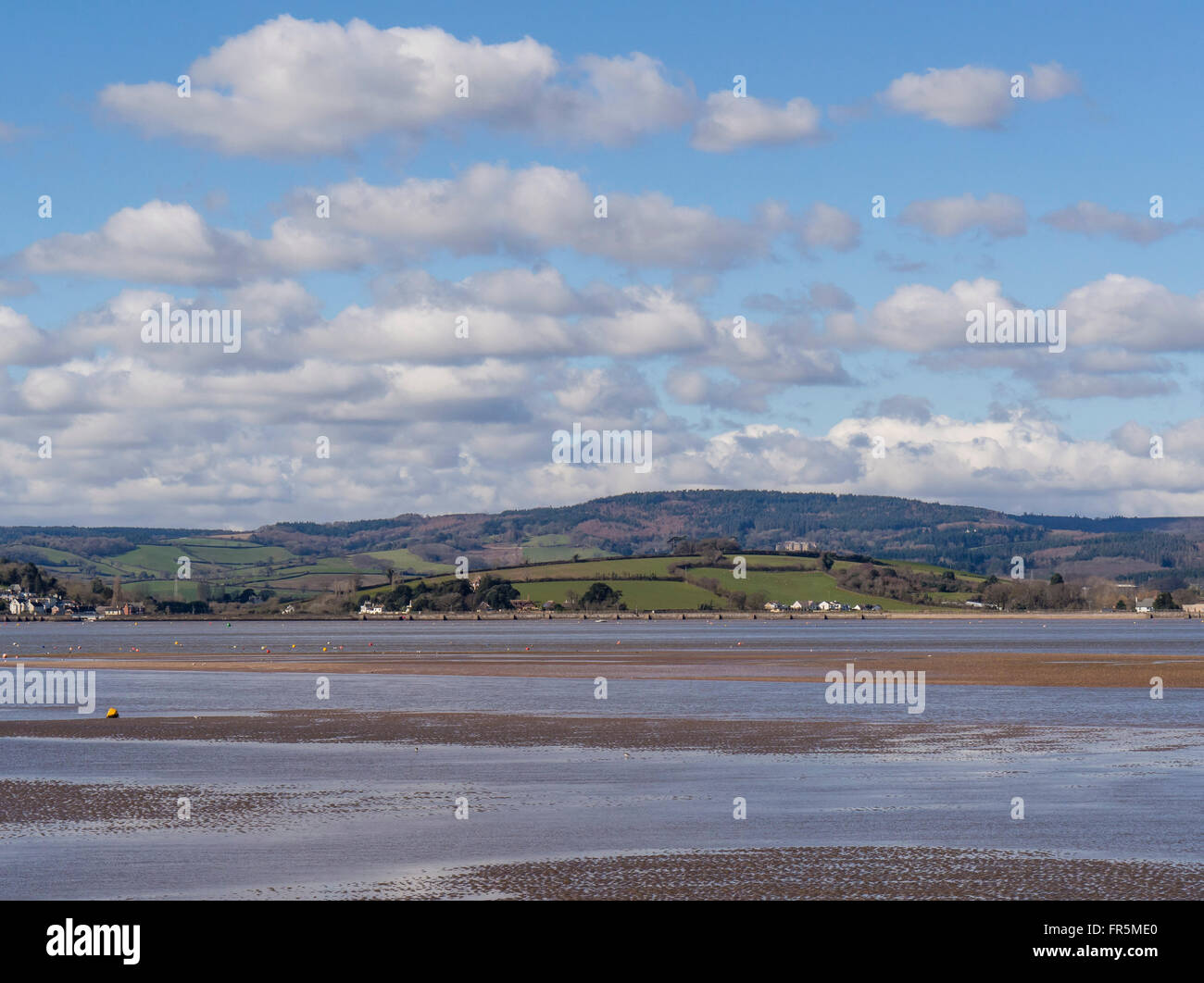 The River Exe Estuary from Exmouth, East Devon, England, UK - Stock Image