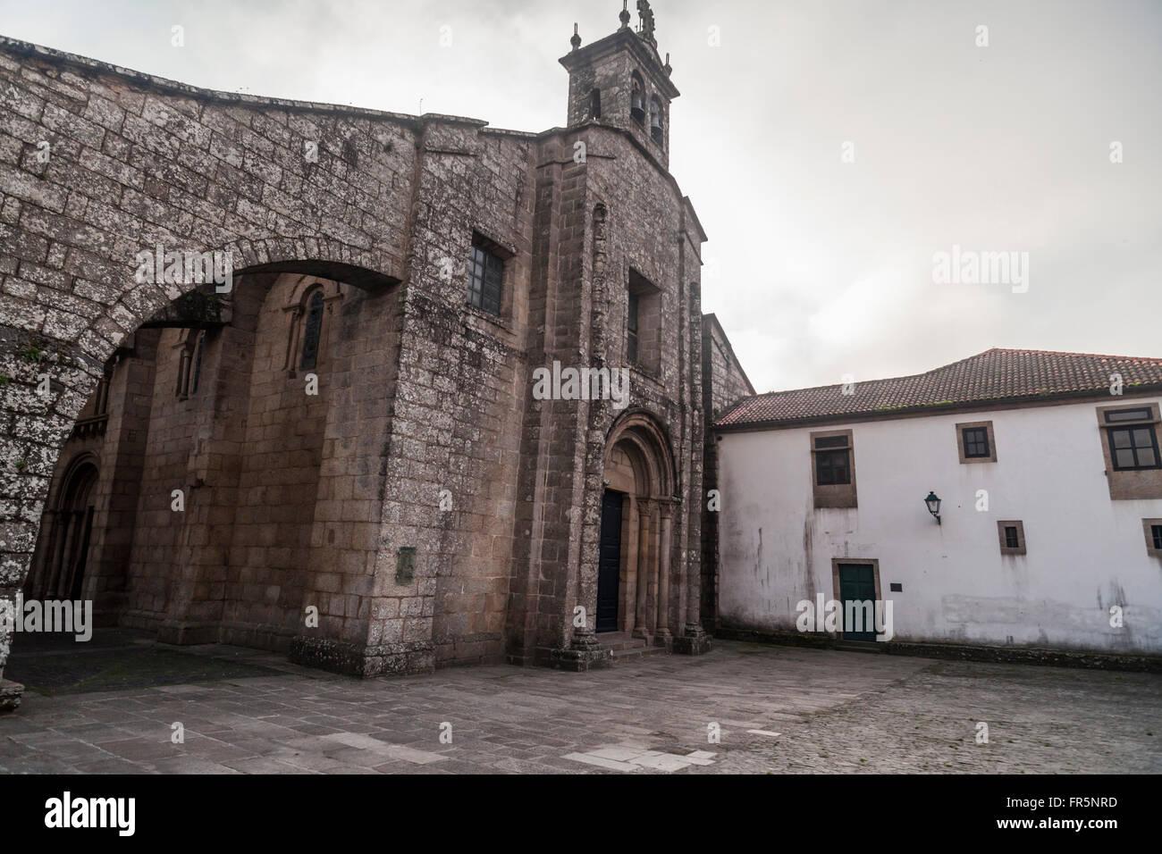 Colegiata Santa María a Real do Sar. Romanesque style century XII. Santiago de Compostela. Stock Photo