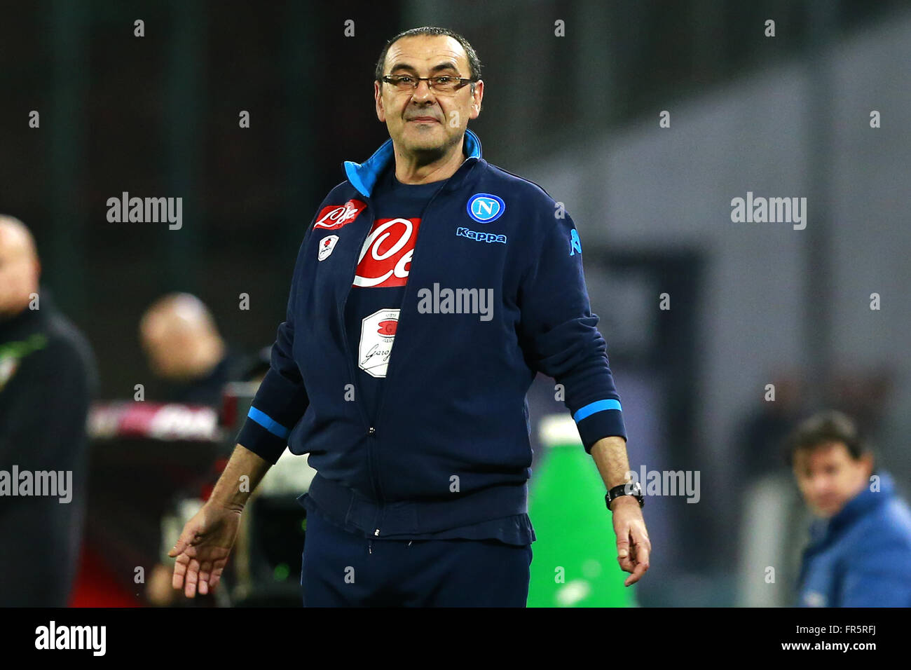 Maurizio Sarri Napoli coach     Napoli 20-03-2016 Stadio San Paolo  Football Calcio Serie A 2015/2016 Napoli - Genoa - Stock Image