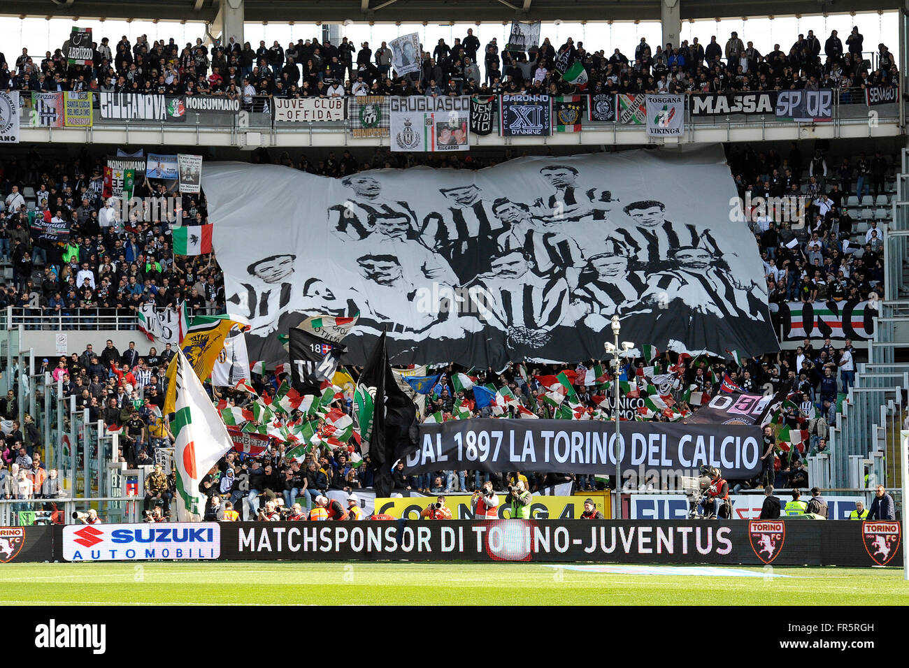 Juventus Supporters  Torino 20-03-2016 Stadio Olimpico Football Calcio Serie A 2015/2016 Torino - Juventus. Foto - Stock Image