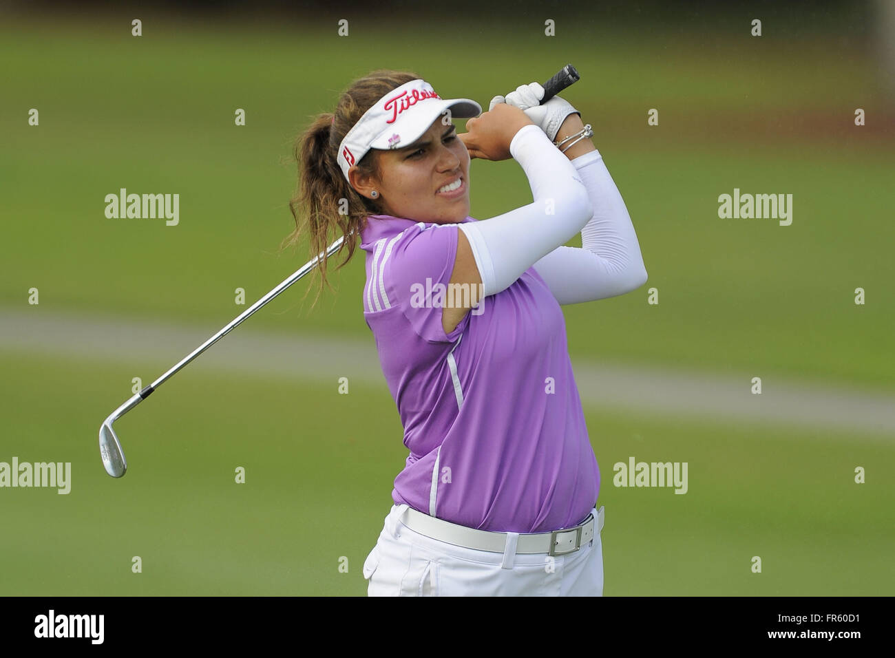 Fort Myers, Florida, USA. 17th Apr, 2015. Alejandra Cangrejo during the second round of the Symetra Tour's Chico's - Stock Image