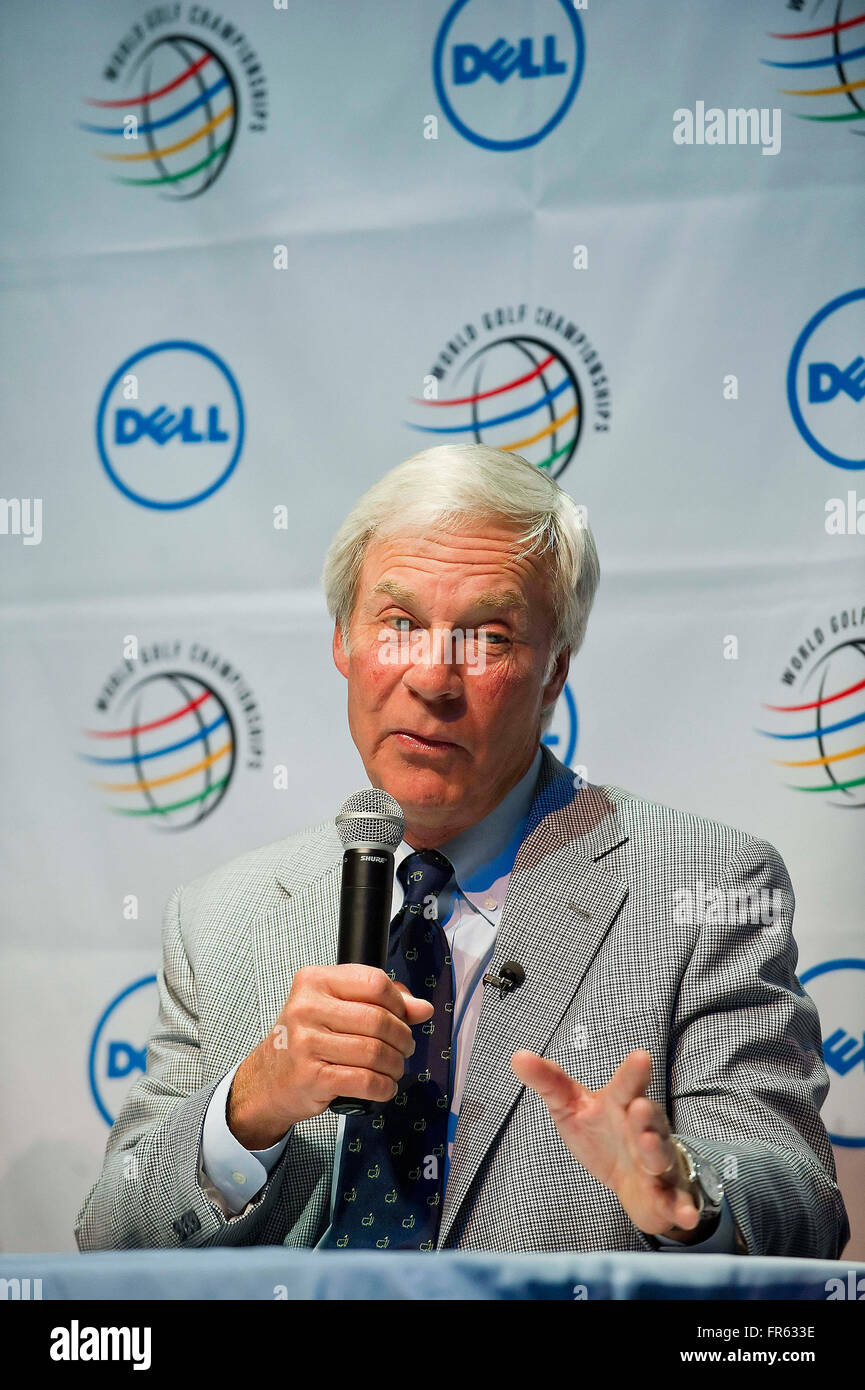 Austin, Texas, USA. 21st Mar, 2016. Ben Crenshaw at press conference before the start of the World Golf Championships - Stock Image