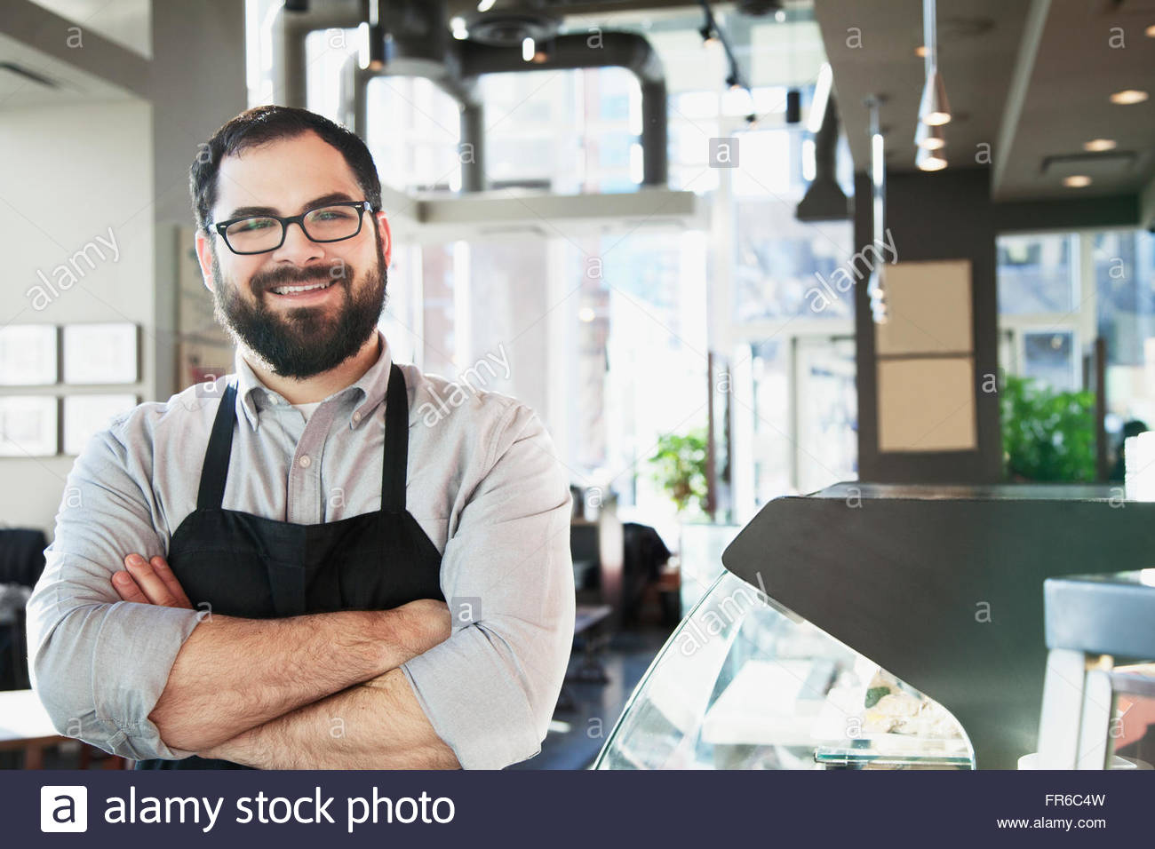 coffee shop owner - Stock Image