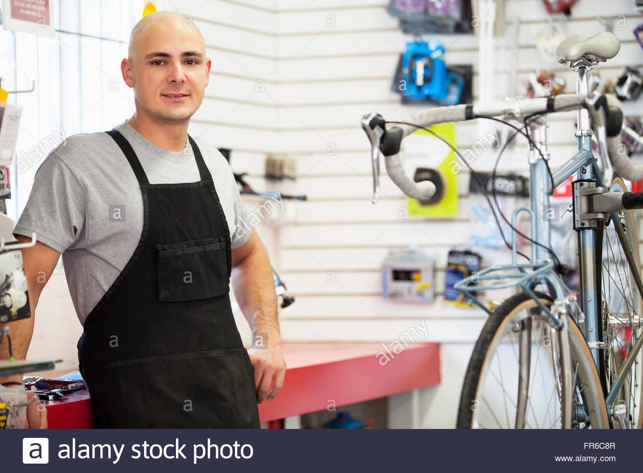 bike shop owner - Stock Image