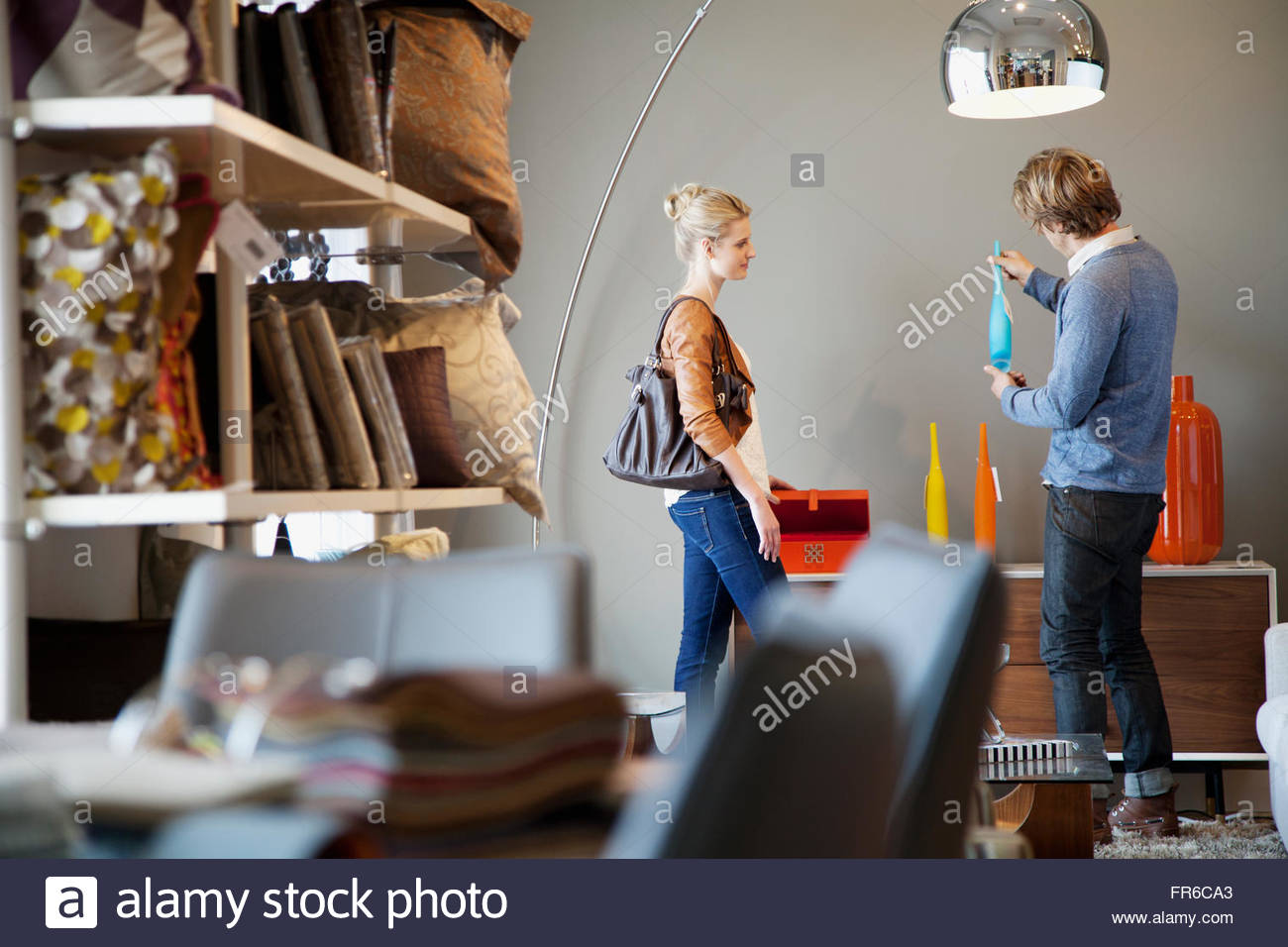 couple shopping for household projects - Stock Image