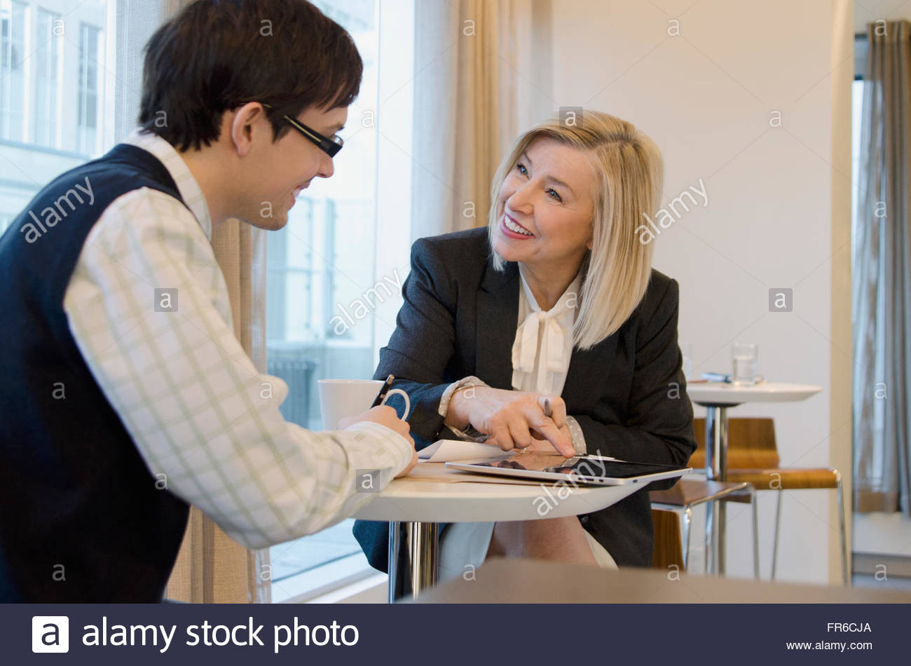 business luncheon meeting - Stock Image
