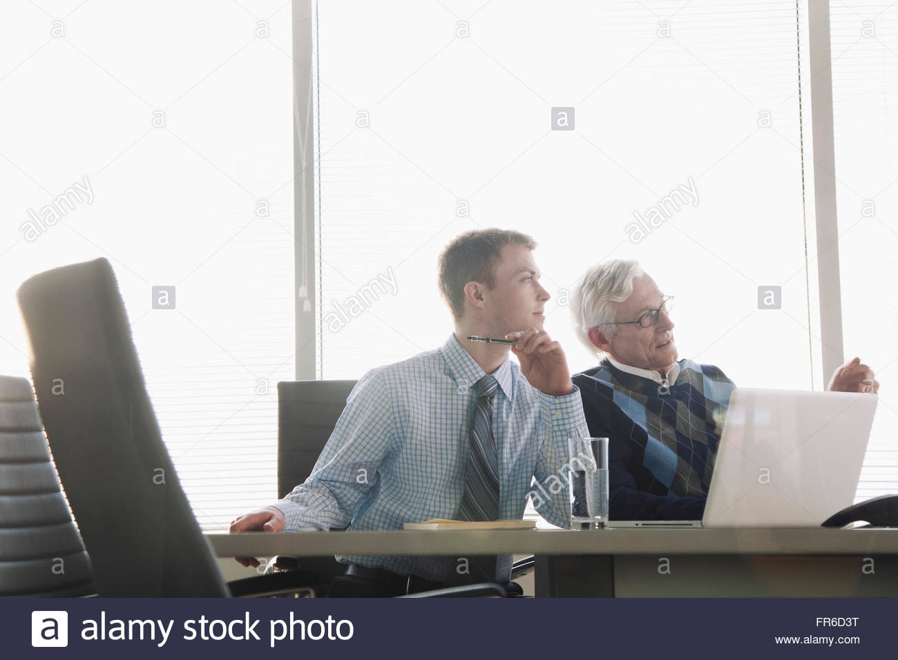coworkers planning - Stock Image