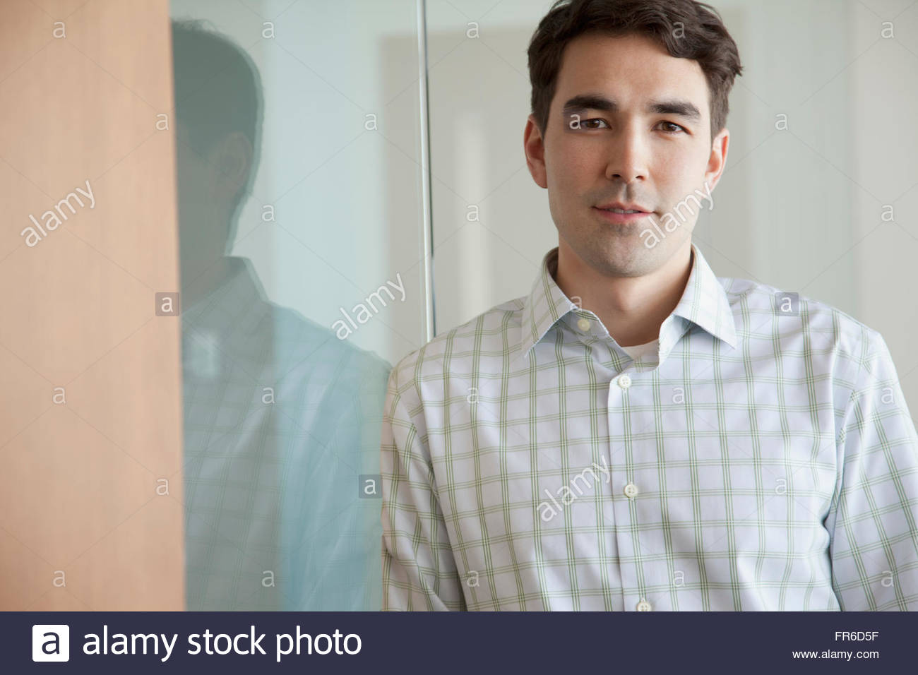 young clean-cut businessman - Stock Image