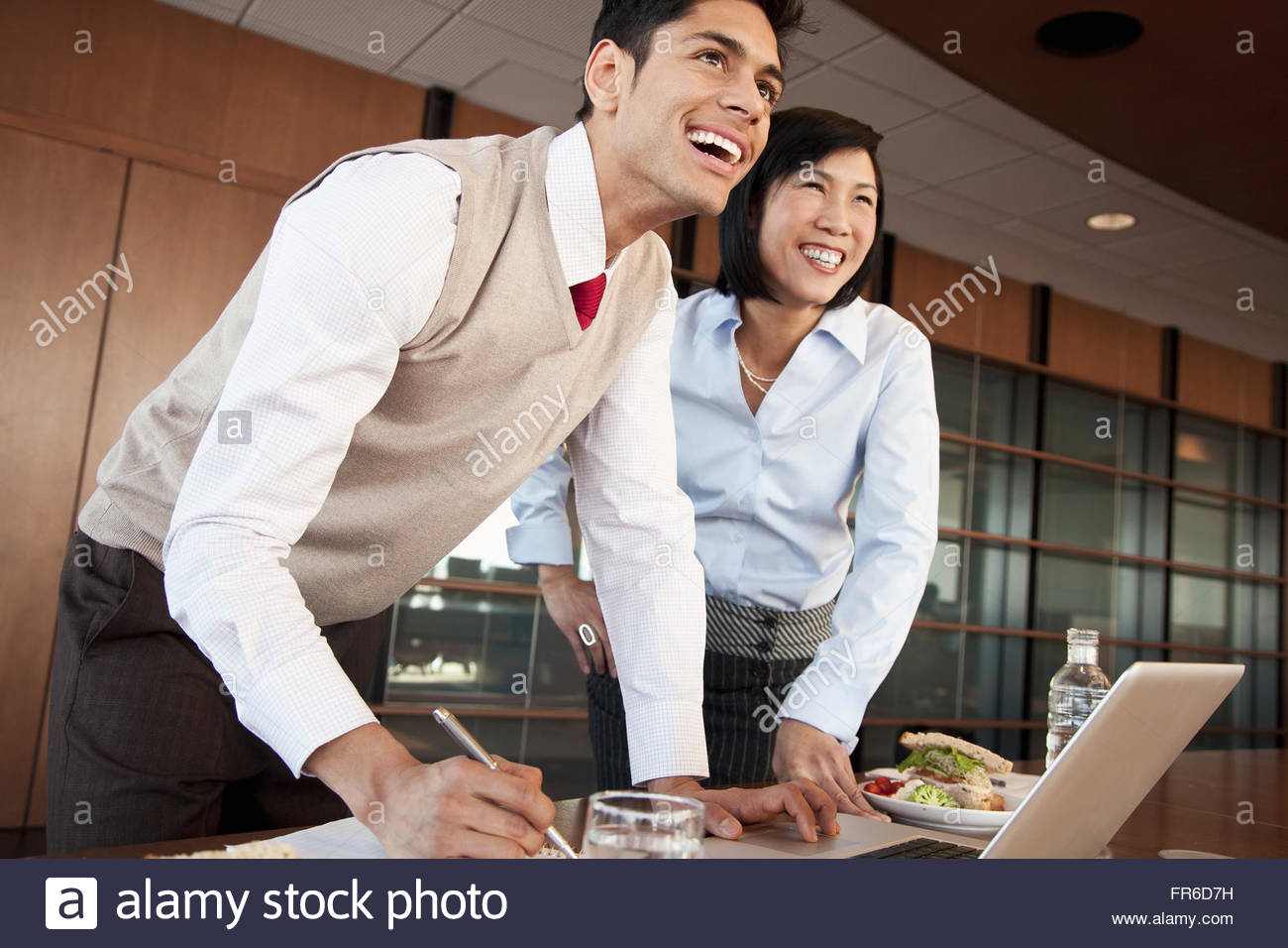 luncheon meeting in conference room - Stock Image