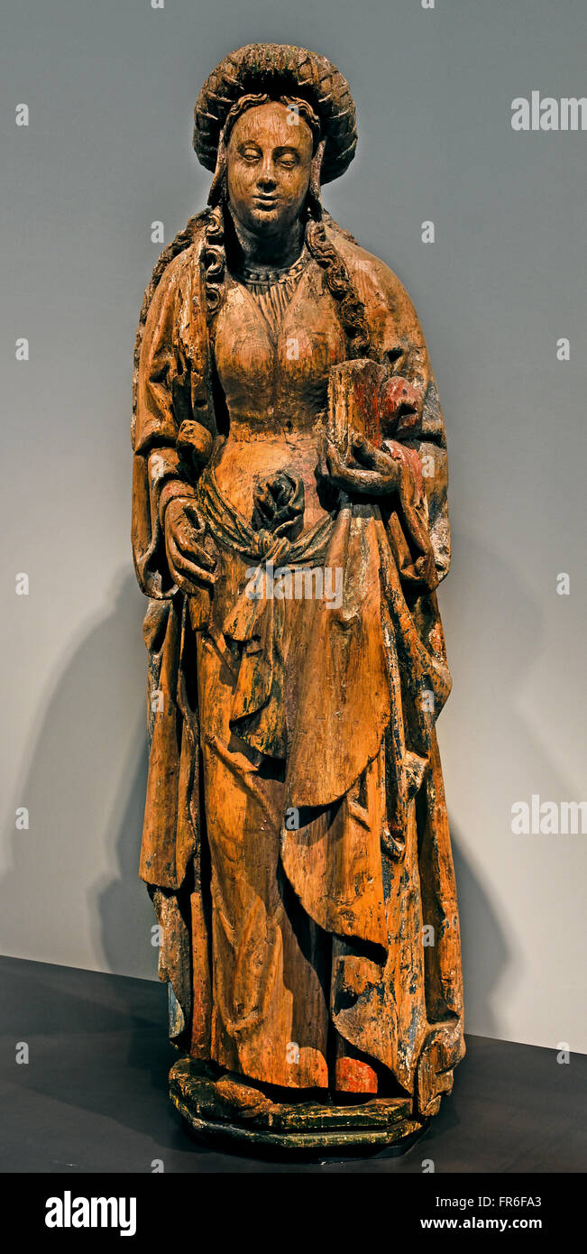 Sainte Martyre  - Holy Martyr XV Century France French ( wood ) - Stock Image