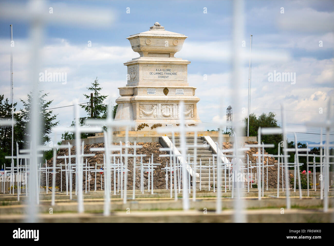Republic of Macedonia, Bitola, the French cemetery - Stock Image