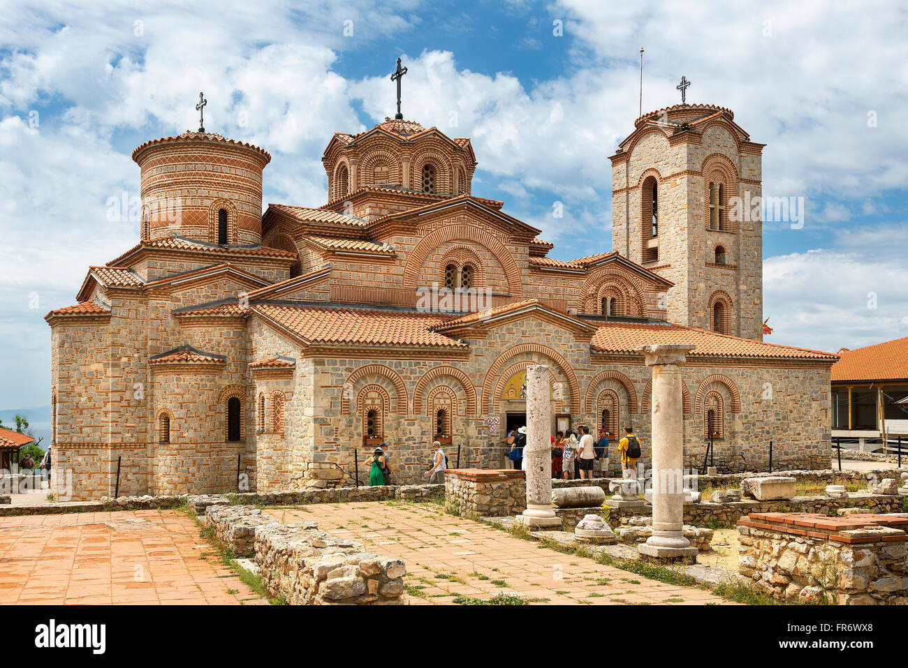 Republic of Macedonia, Ohrid, the site of Plaochnik, the Byzantine church of Clement - Stock Image