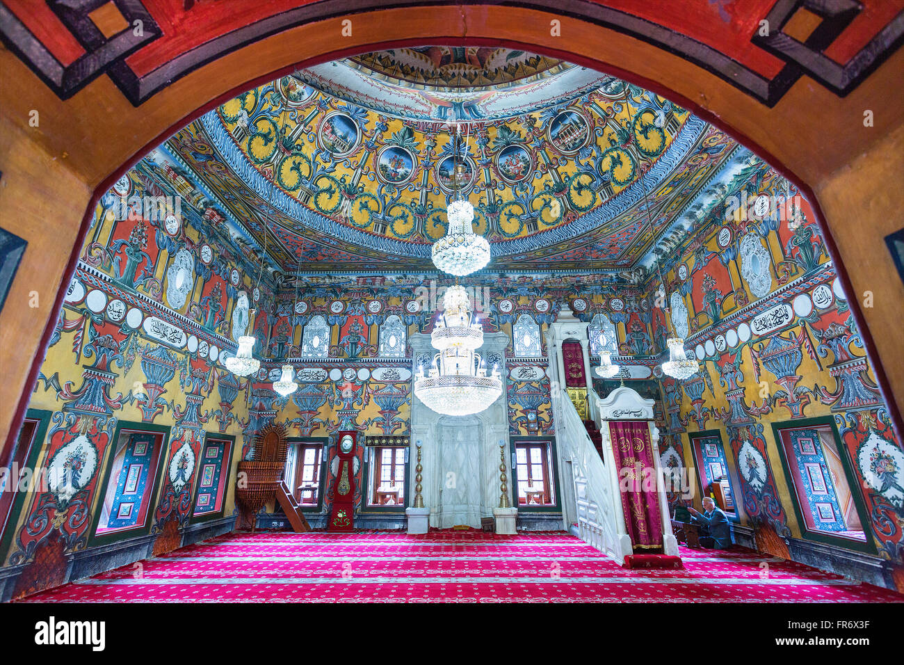 Republic of Macedonia, Tetovo, Ottoman mosque painted - Stock Image