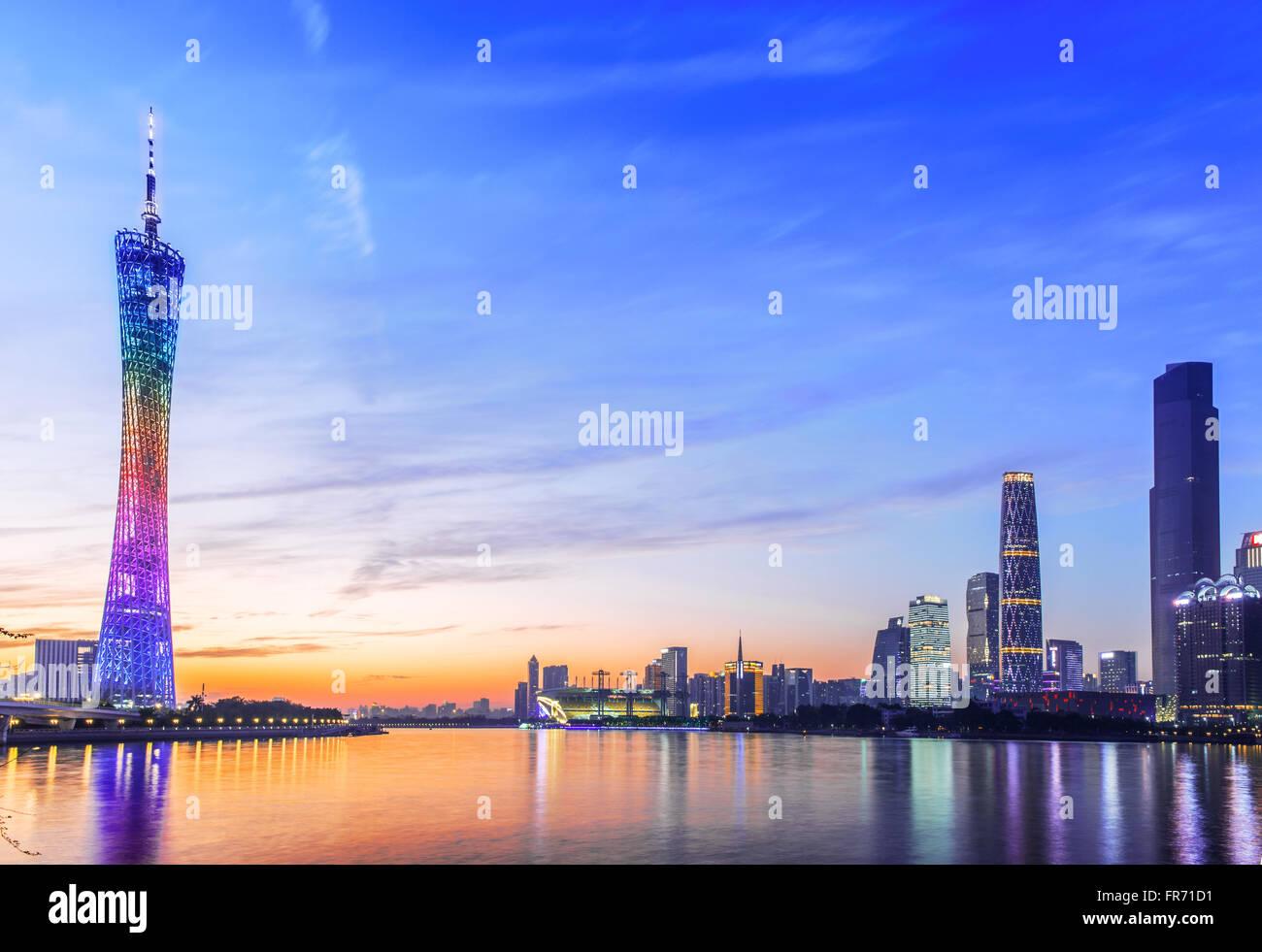 Guangzhou city scene - Stock Image