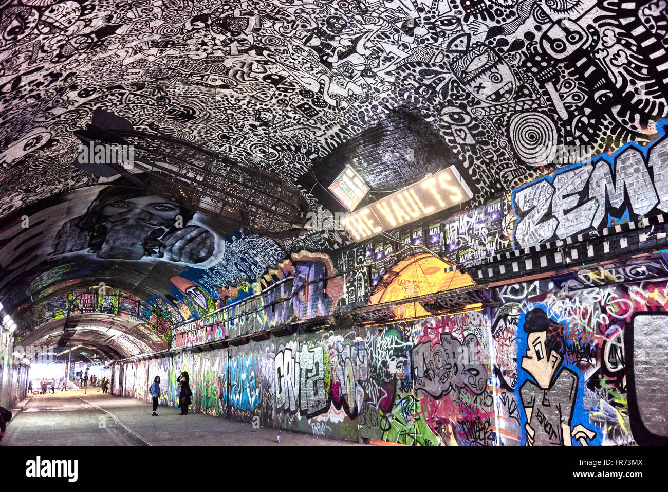 leake street also known as the banksy tunnel or graffiti tunnel stock photo 100345530 alamy. Black Bedroom Furniture Sets. Home Design Ideas