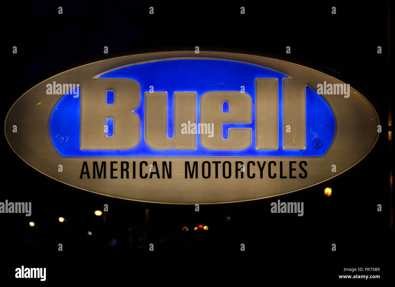Markenname: 'Buell American Motorcycles', Berlin. - Stock Image