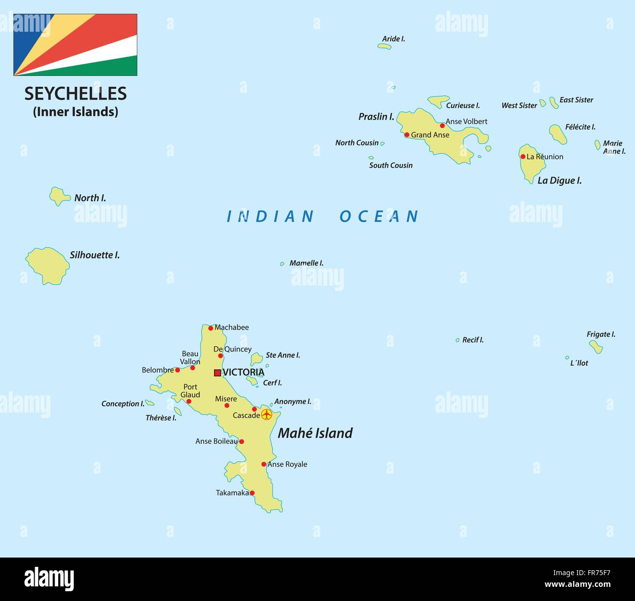 Karte Seychellen.Seychelles Map Stock Photos Seychelles Map Stock Images