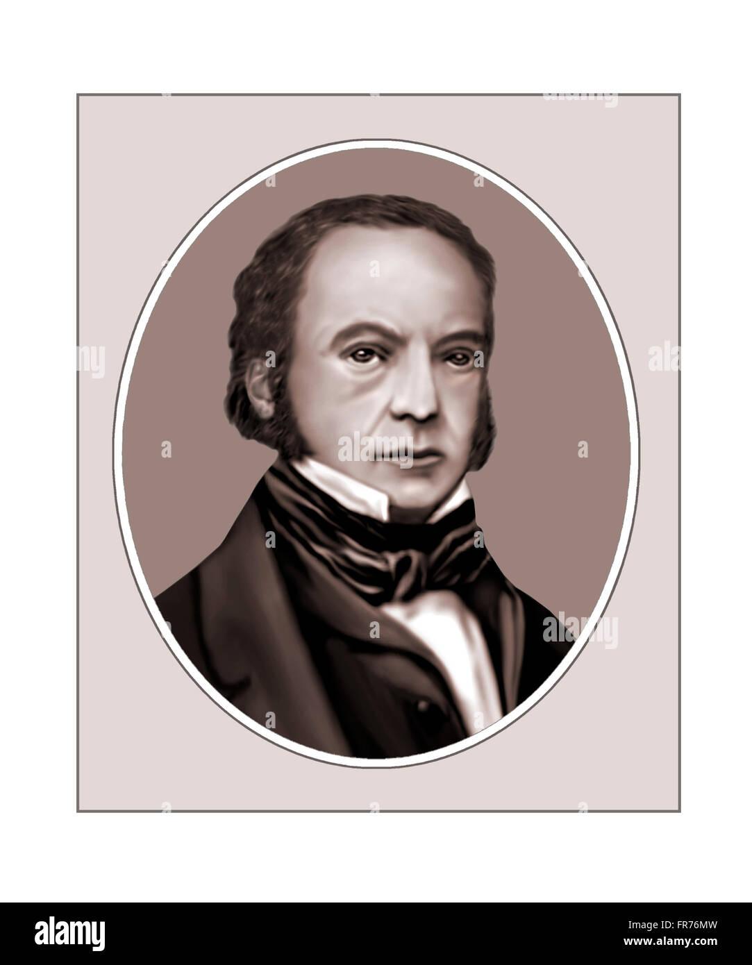 Isambard Kingdom Brunel, 1806-1859, Engineer, Portrait - Stock Image