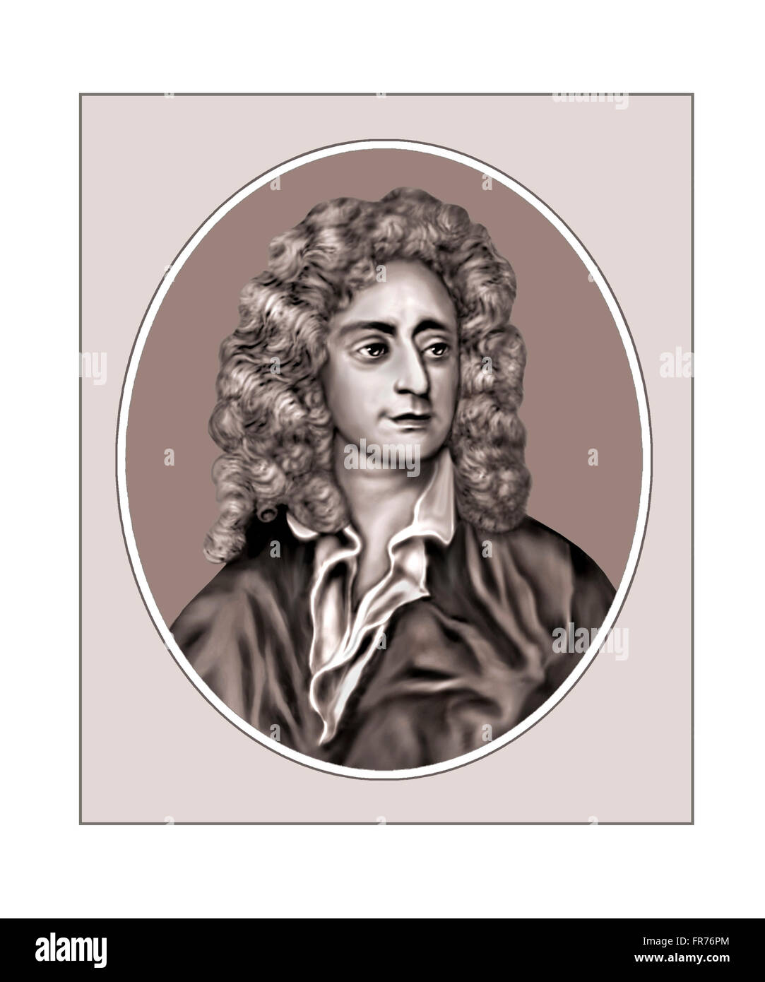 Henry Purcell, 1659-1695, Composer, Portrait - Stock Image