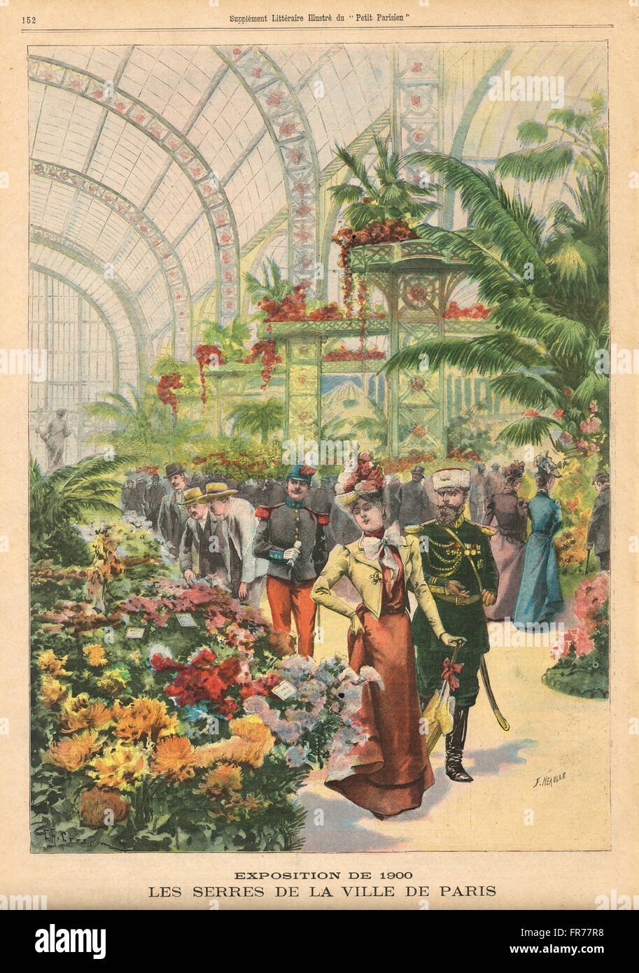 Paris exhibition 1900 The Greenhouses - Stock Image