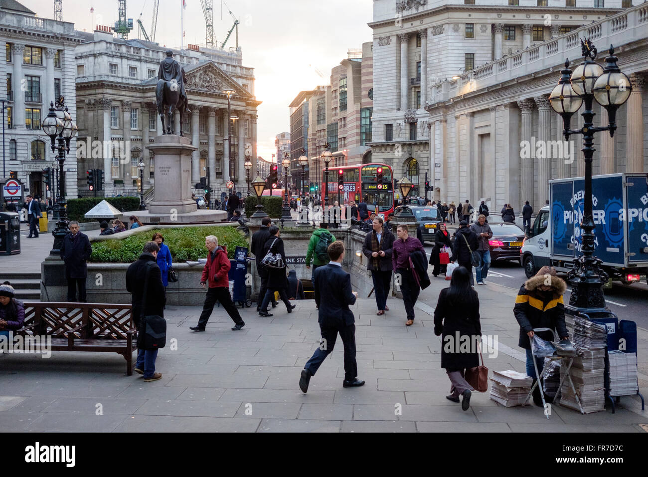 City of London  Outside the Bank of England - Stock Image