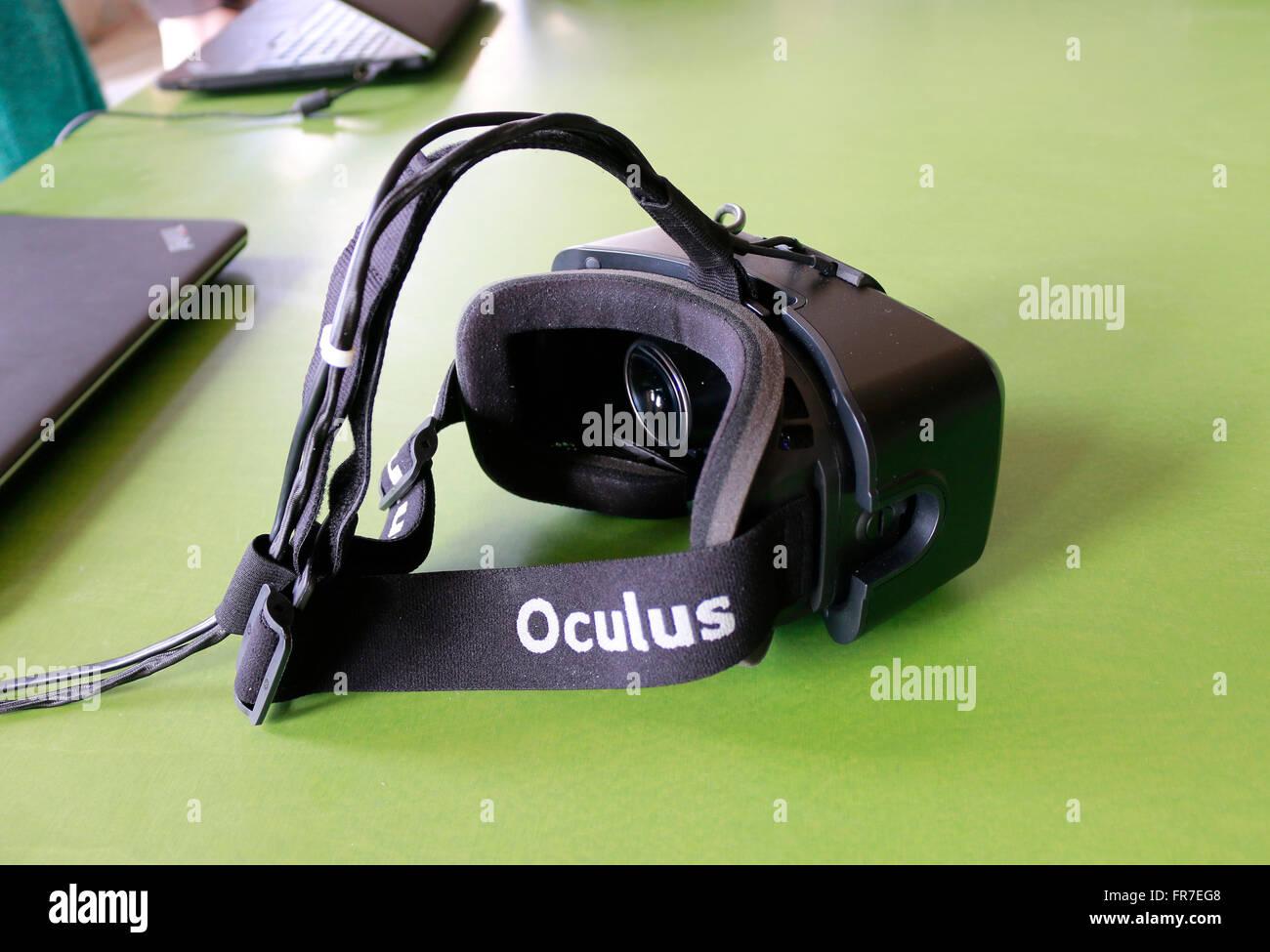 eine VR-Virual Reality Datenbrille, Berlin. Stock Photo
