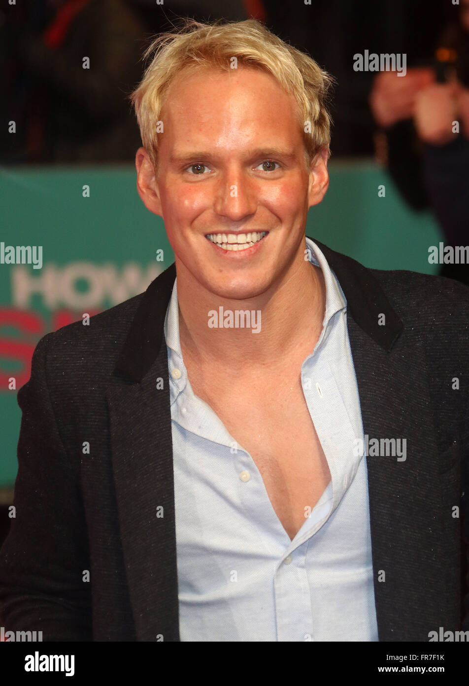 February 9, 2016 - Jamie Laing attending 'How To Be Single' European Premiere at Vue West End Cinema, Leicester - Stock Image