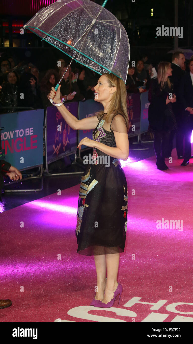 February 9, 2016 - Leslie Mann attending 'How To Be Single' European Premiere at Vue West End Cinema, Leicester - Stock Image