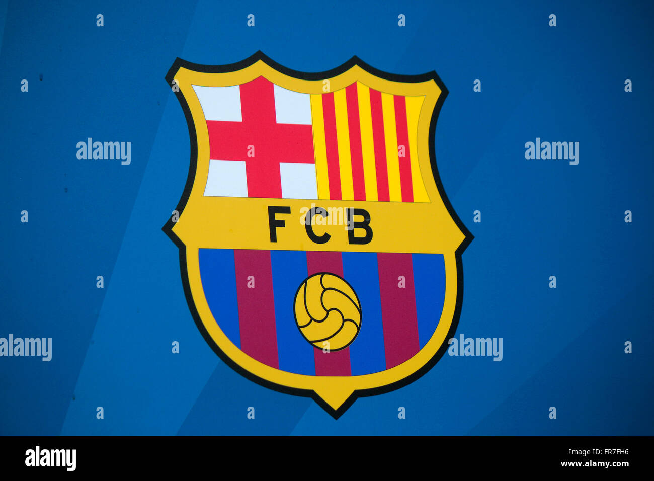 das Logo des 'FC Barcelona', Berlin. - Stock Image